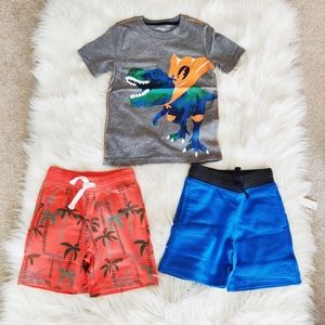 Spotted Zebra Shorts x 2 and Carter's T-Shirt NWT